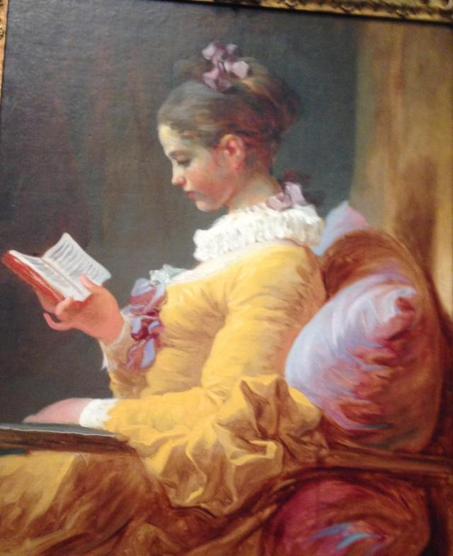 Fragonard girl reading book