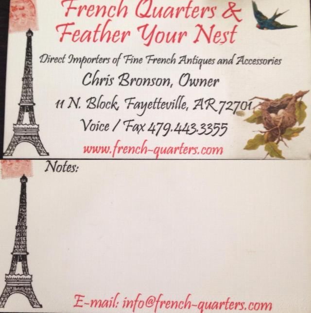 French Quarters card