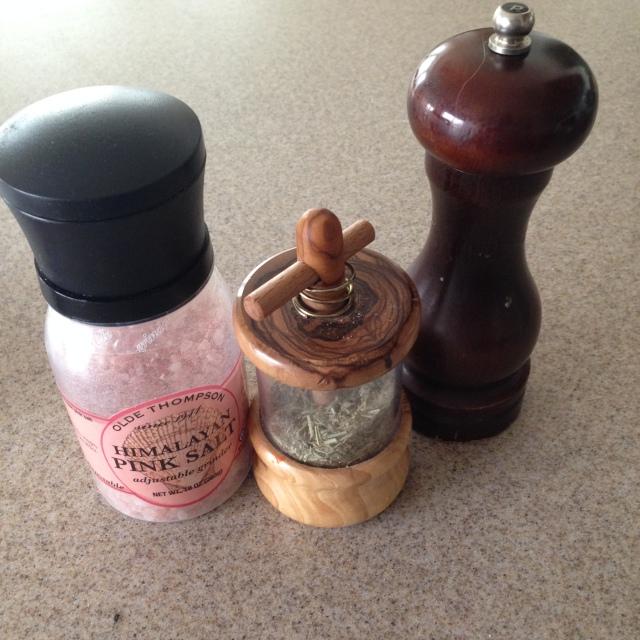 Salt, Herbes d' provence and pepper