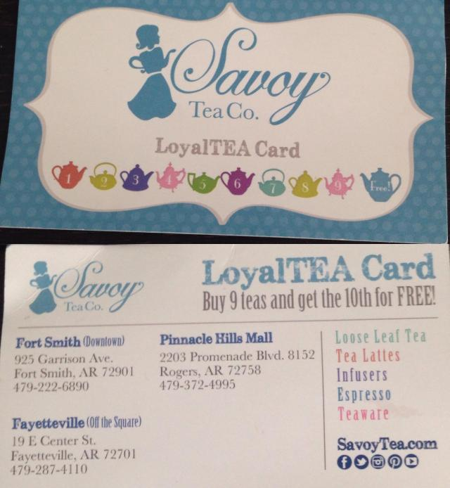 Savoy tea card