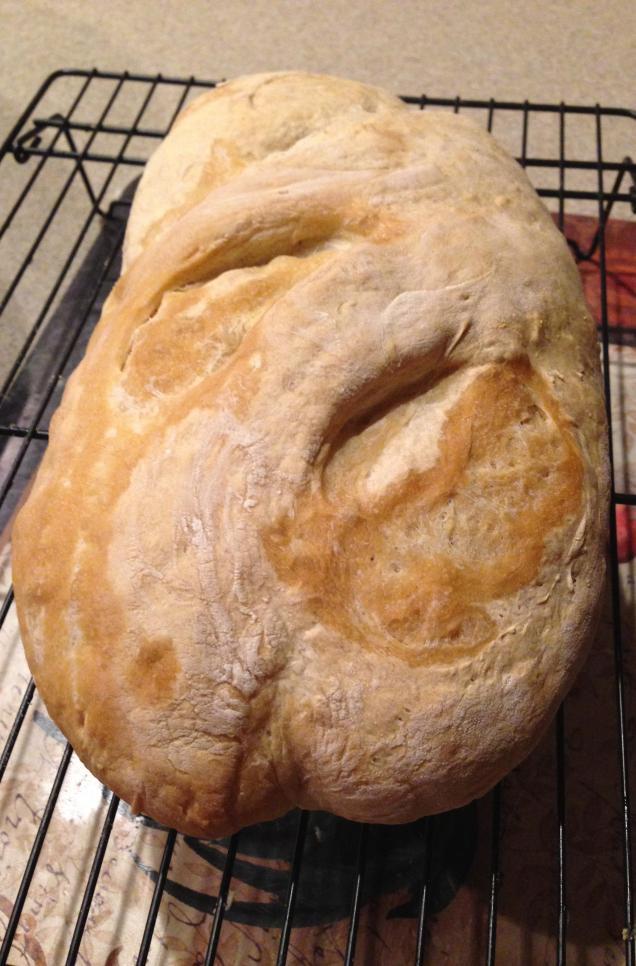 Artisinal bread loaf