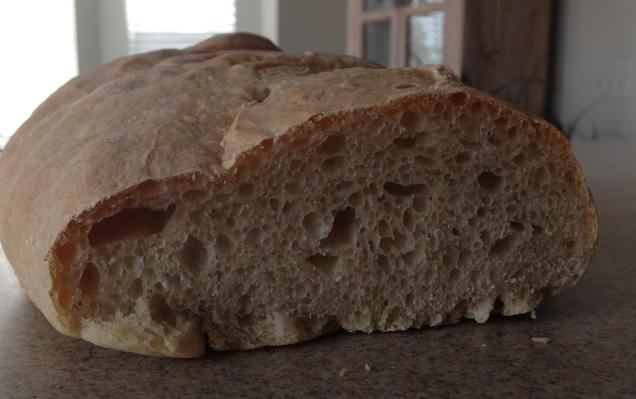 Bread loaf chewy inside