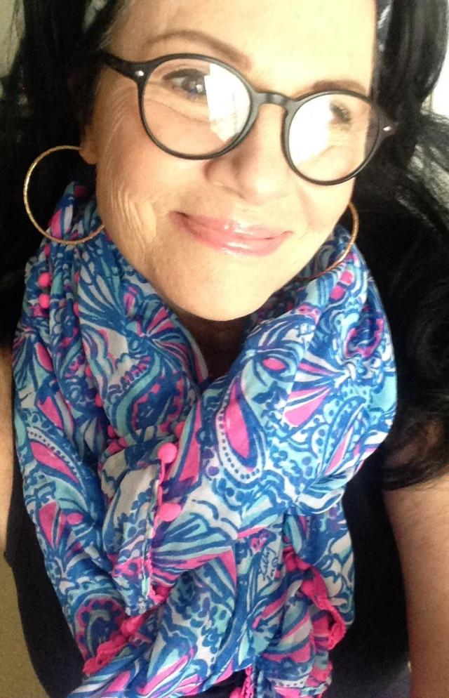 Cynthia Rowley maxi with Lilly Pulitzer for Target scarf