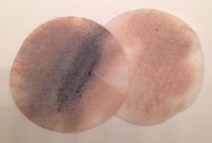 Dirty makeup remover pads