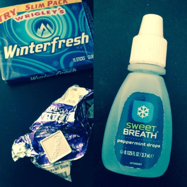 Gum violets and breath freshner