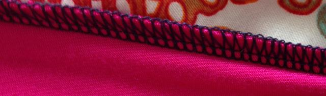 Old Navy berry and blue sleeveless maxi inside stitching detail