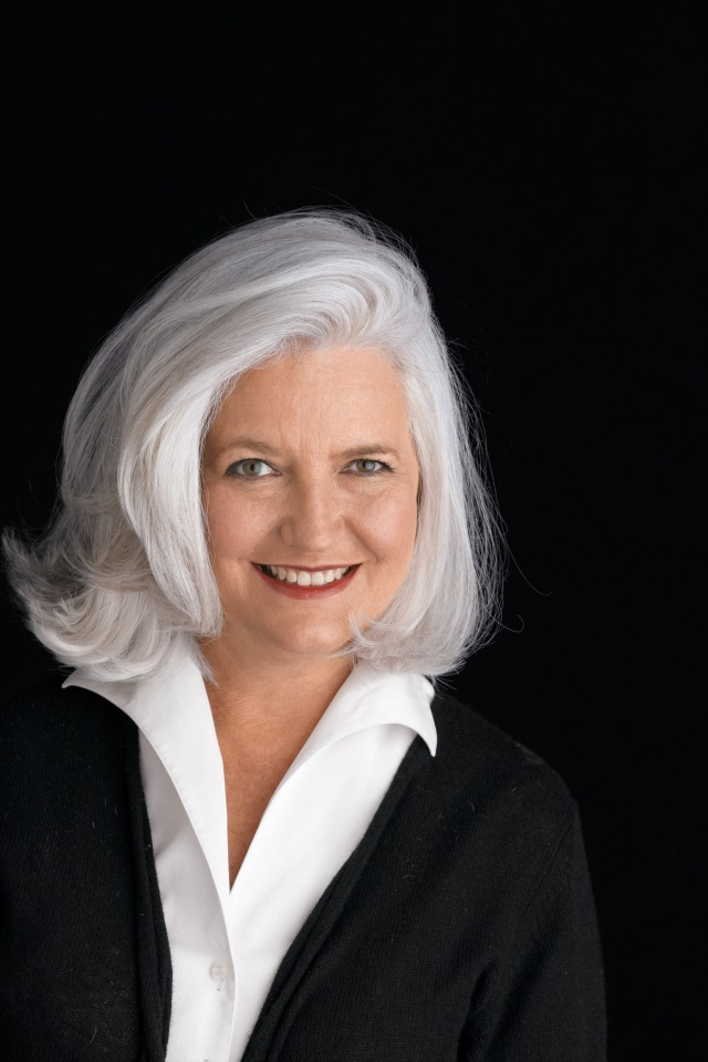 Ellen Levine. Best gray white hair on earth