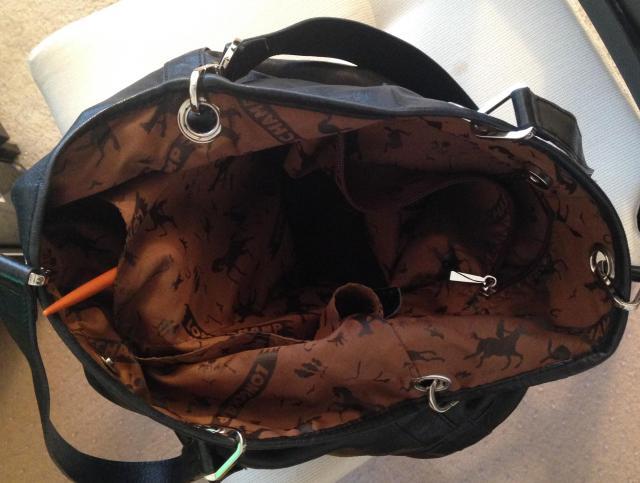 Leather Longchamp interior