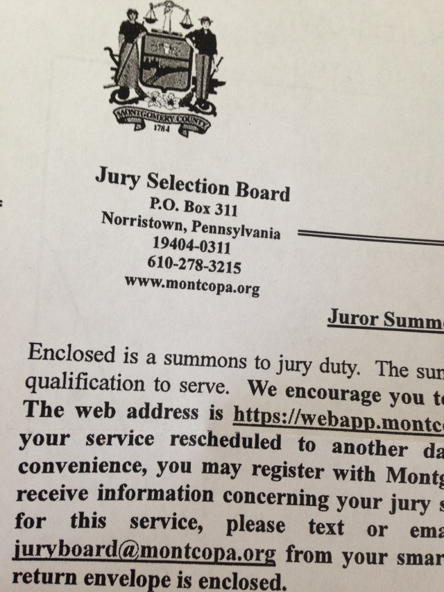 The call to jury duty atypical 60 it was a fun letter to invite me to jury duty and to further invite me to complete an online questionnaire its akin to online dating stopboris Gallery