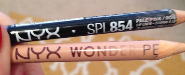 NYX Wonder Pencil and NYX Lip Liner