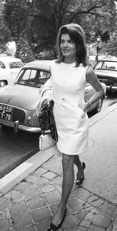 Jackie O in shift dress