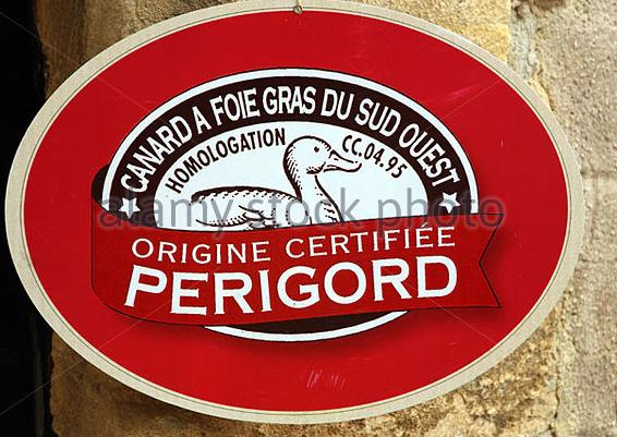signs-advertising-foie-gras-in-the-perigord-area-of-france-bwp6xd