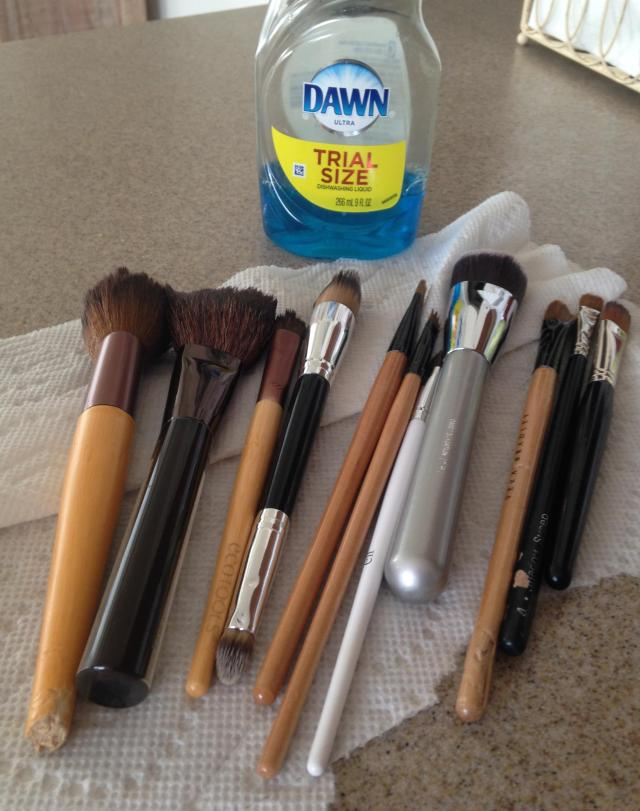 Makeup brushes. Note the chewed ones that Chippy got to