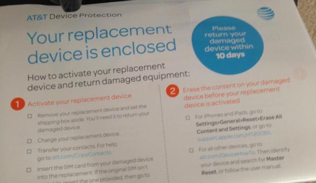 Phone replacement notice