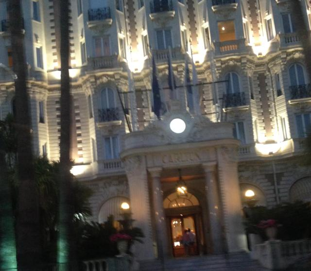 CANNES. BLOG GOLD. Driving by the carlton after a bottle of wine.