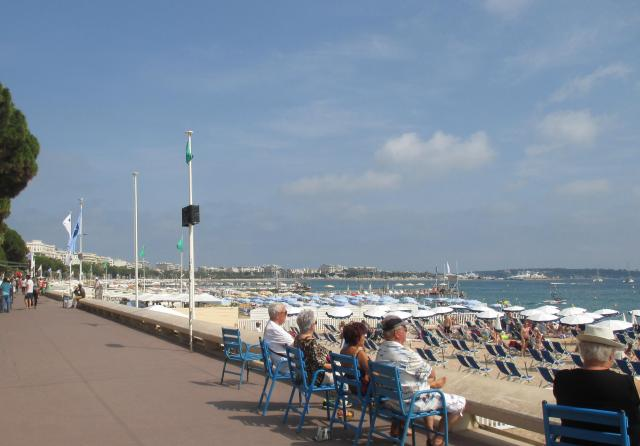 Cannes. La Croisette. Old folks at home