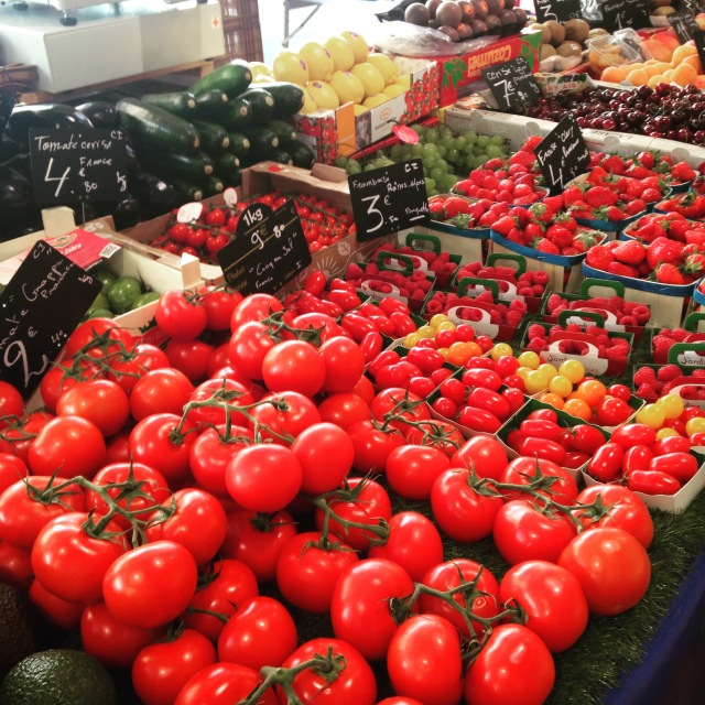 Cannes. Marche Forville. Check out them tomatoes GOLD
