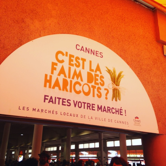 Cannes. Marche forville sign