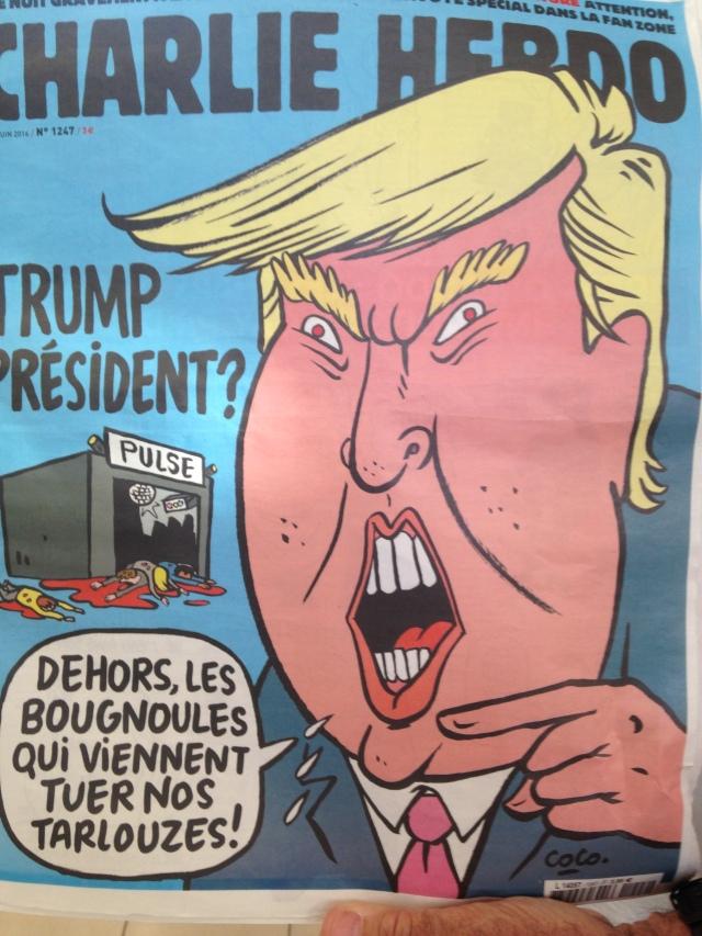 Charlie Hebdo trump cover GOLD