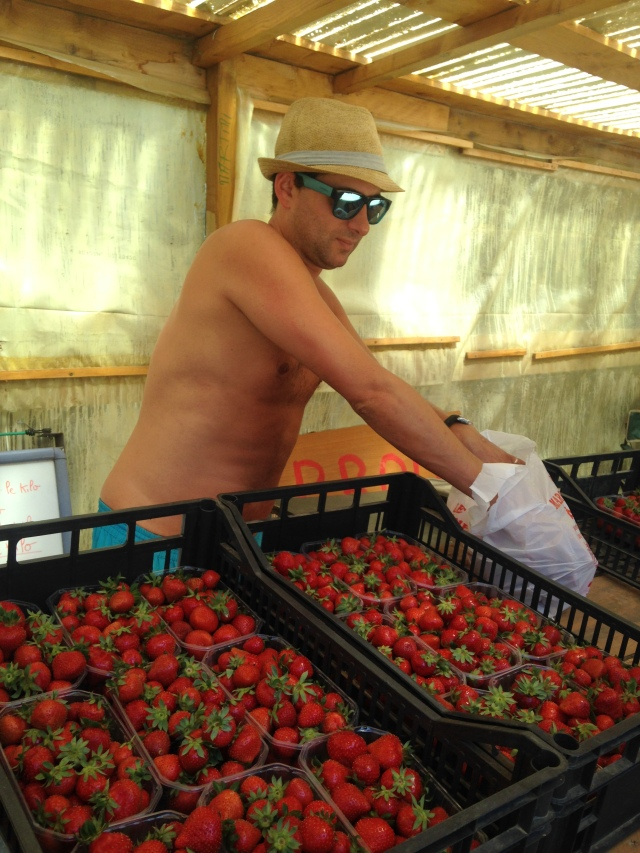 Collobrieres. Strawberry man.