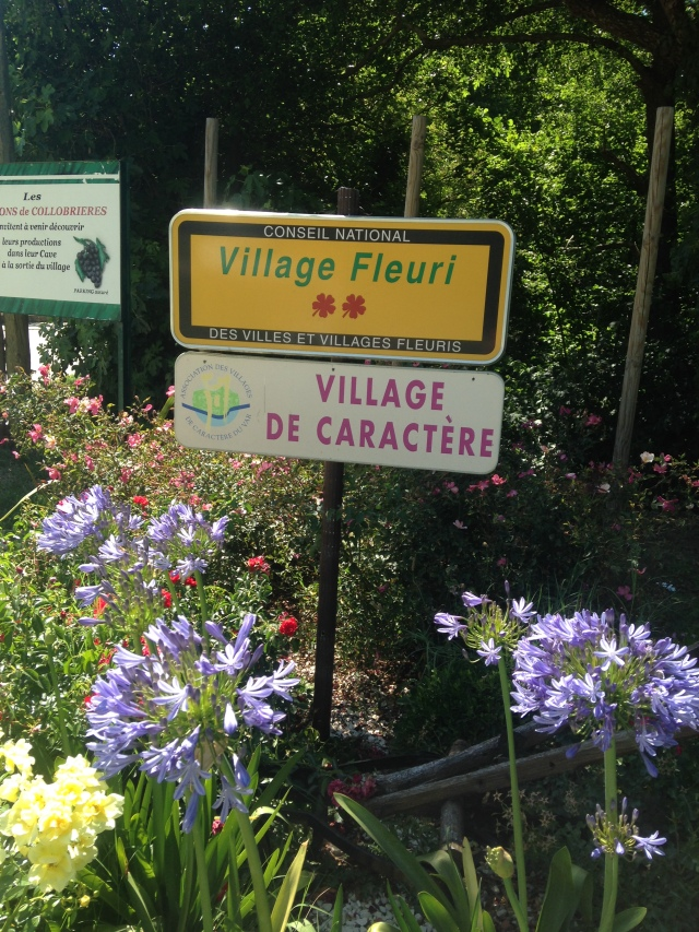 Collobrieres. Village sign