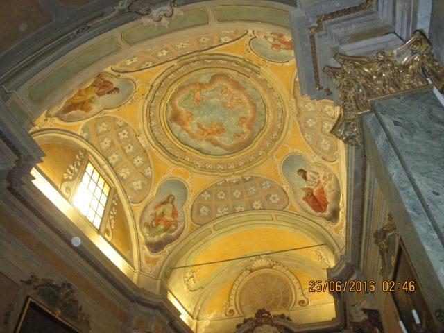 Eze. Ceiling at Eglise Notre Dame de l'Assomption