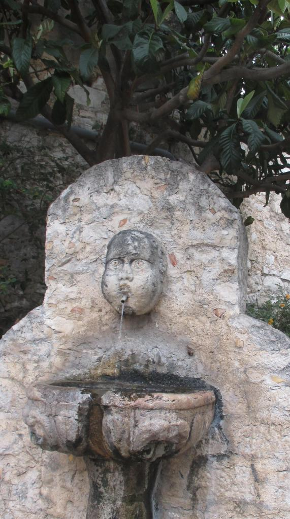 Eze. Eau no. Fountain close up