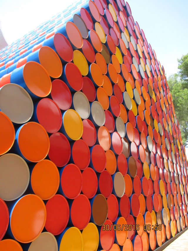 Fondation Maeght.  Barrel of fun 1