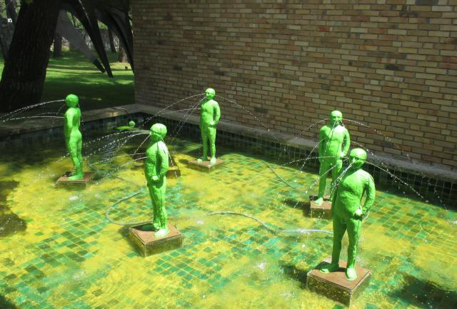 Fondation Maeght Green men fountains