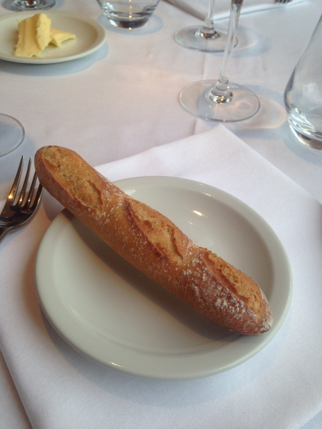 Food. Theoule. Club. Cutest little mini baguette.