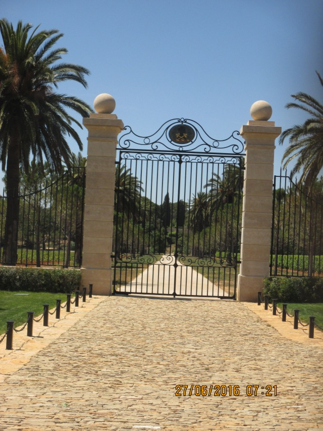 L'Estagnol. Entrance to Leoube Vineyards and Olive Huile d'Olive trees.
