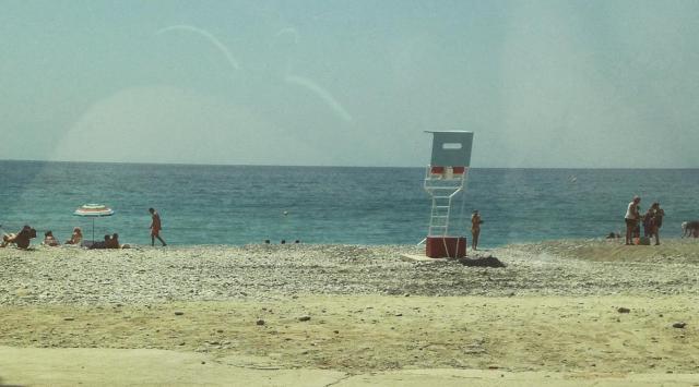 Menton Beach scene 1