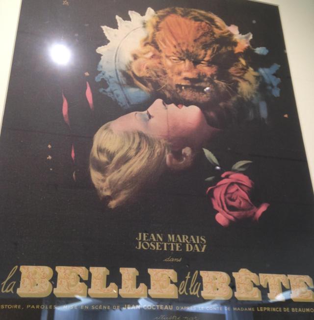 Menton. Jean Cocteau Musee. La Belle a Le Bette poster.