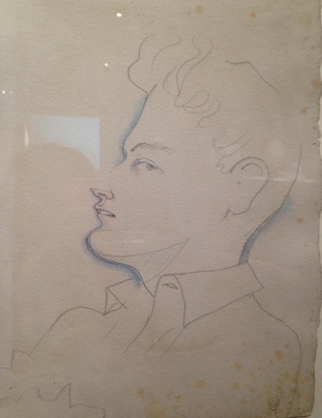Menton. Musee Jean Cocteau. Drawing of his and my hearthrob Jean Marais.