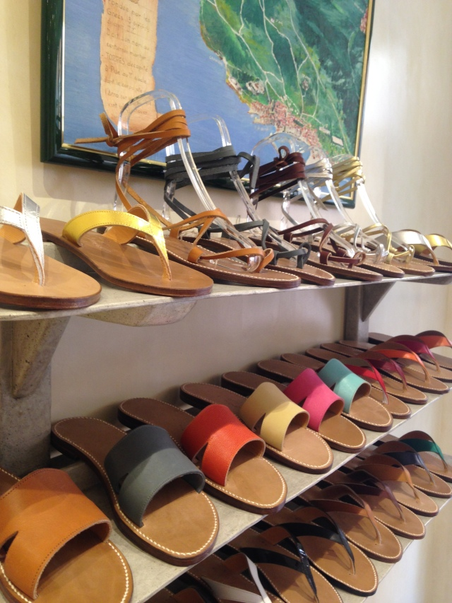 Shopping St. Tropez. Sandals on display be still my heart.