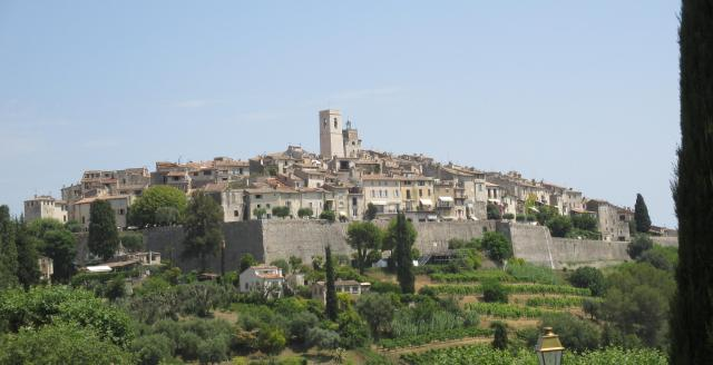 St. Paul de Vence. taken from the car