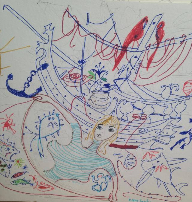 St. Tropez. Dany sketch 3
