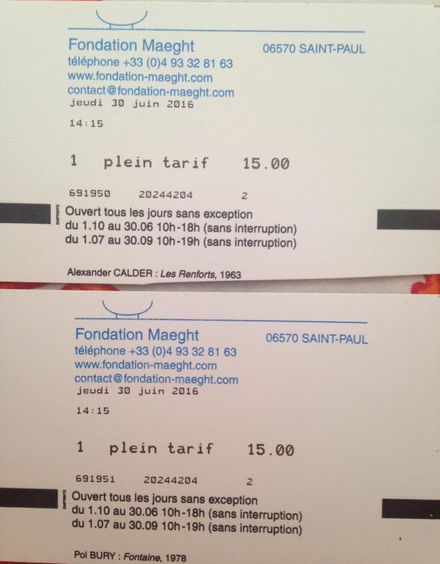 Tarif tickets