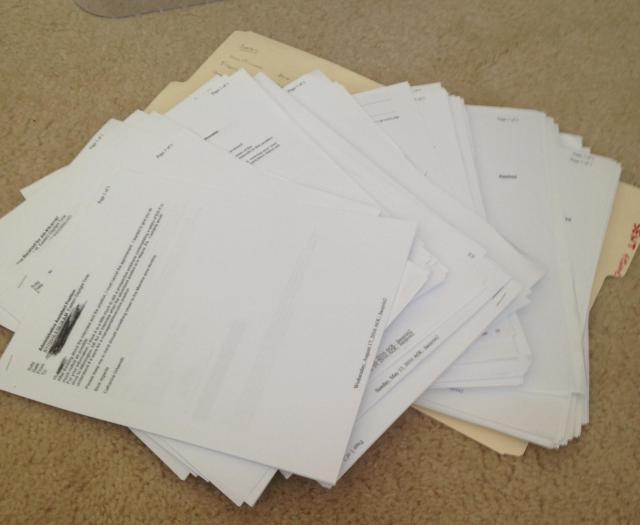 Pile of emails from applications
