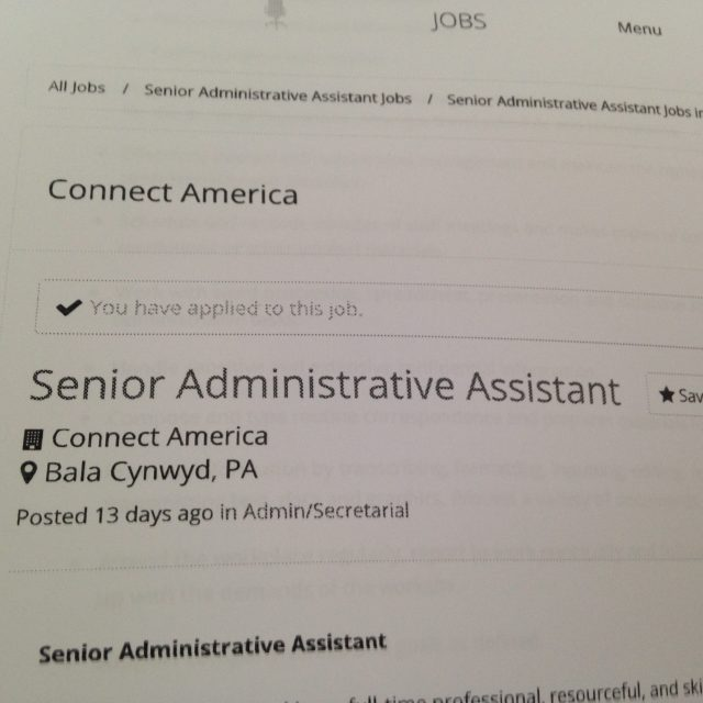 Senior Administrative Assistant does not mean Senior Citizen