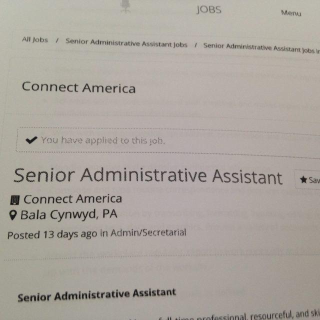 Senior Administrative Assistant does not mean Senior Citizen