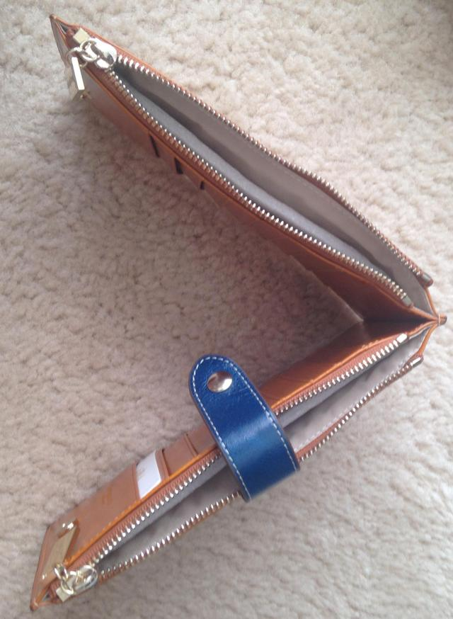 Wallet opened top view