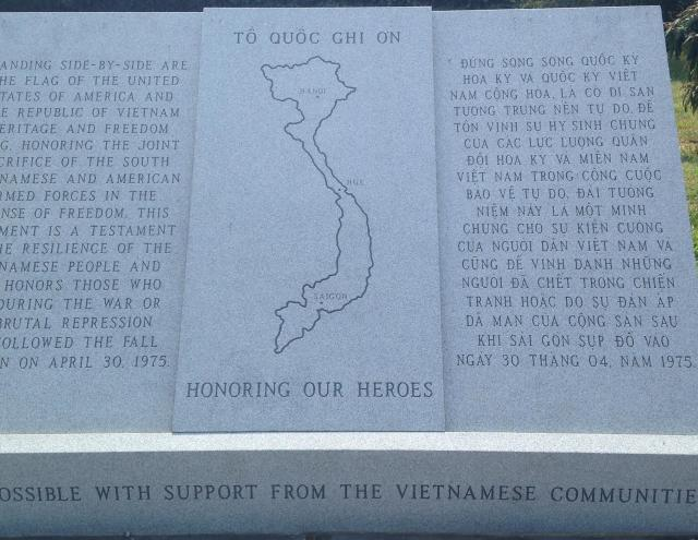 At the war memorial with help from the vietnamese community