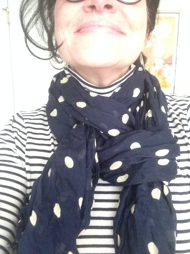 striped-turtleneck-for-fun-with-a-polka-dot-scarf