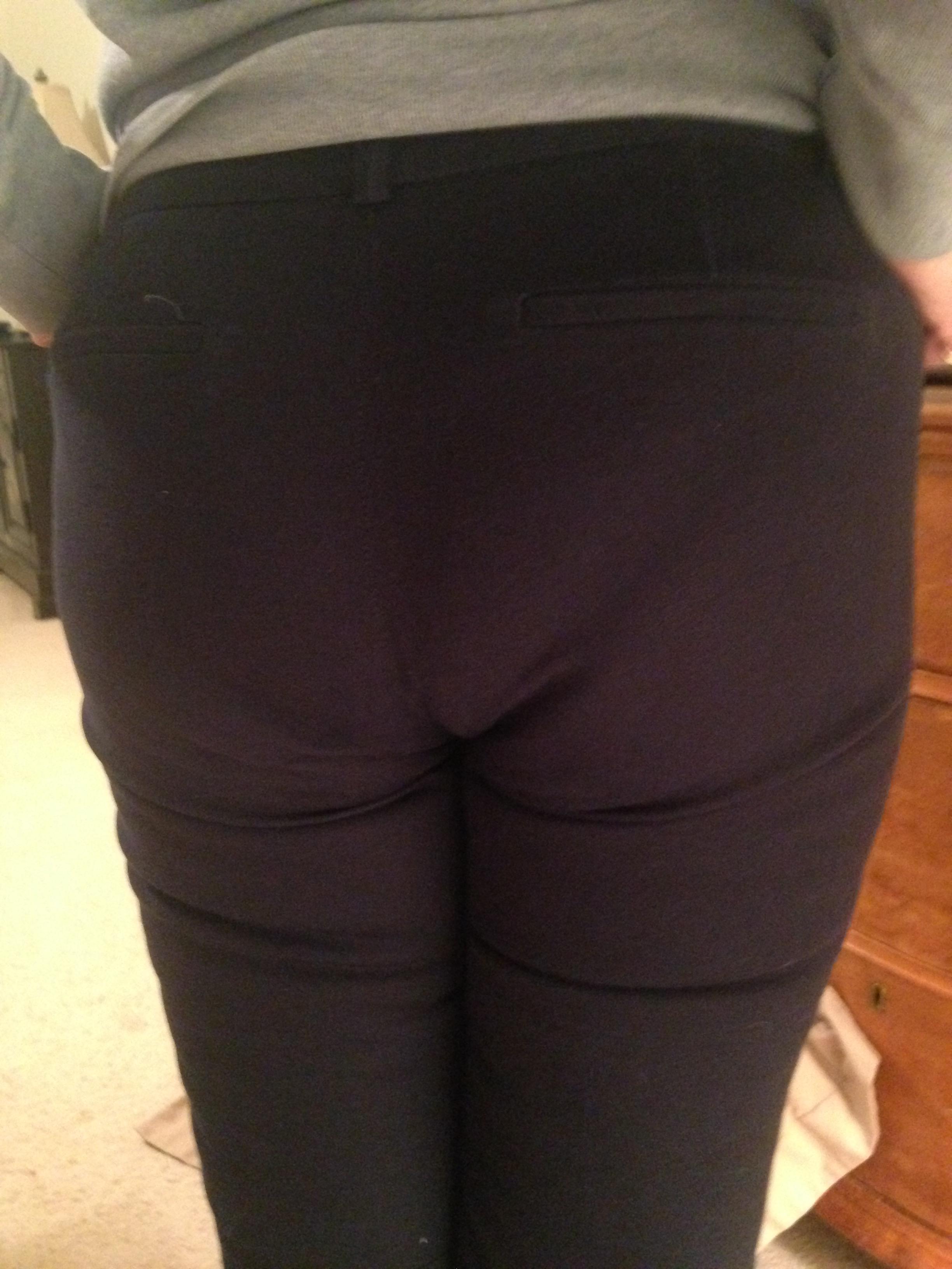 Fat ass tight panties