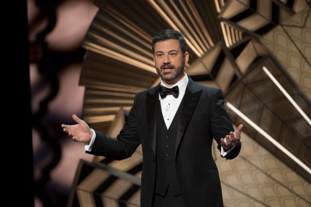 THE OSCARS(r) - The 89th Oscars(r)  broadcasts live on Oscar(r) SUNDAY, FEBRUARY 26, 2017, on the ABC Television Network. (ABC/Eddy Chen) JIMMY KIMMEL