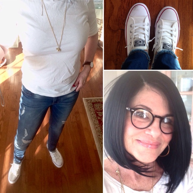 Image result for atypical60 jeans and a white tee