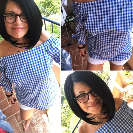 Image result for atypical60 off the shoulder dress