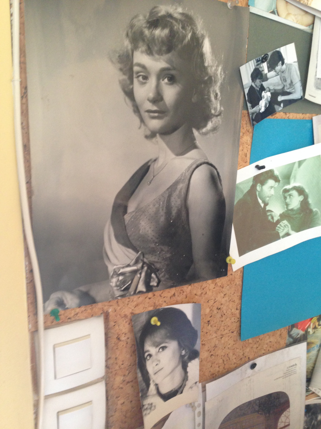 Paris. Daniele's bulletin board at her office!