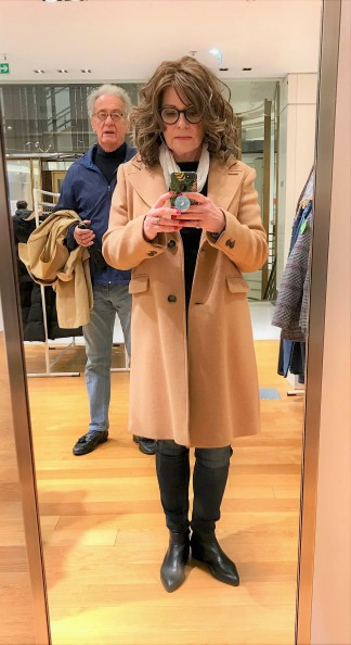 Image result for atypical60 camel coat""